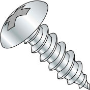 10X1 1/2  Phillips Full Contour Truss Self Tapping Screw Type A Full Thread Zinc Bake, Pkg of 3000