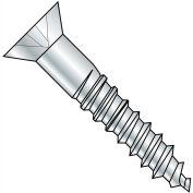10X1 1/2  Phillips Flat Full Body 2/3 Thread Wood Screw 18 8 Stainless Steel, Pkg of 1000