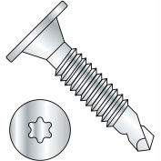 10-24X1 1/2  6 Lobe Wafer Head Full Thread Self Drilling Screw Zinc Bake, Pkg of 1000