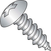 10X2  Phillips Full Contour Truss Self Tapping Screw Type A Full Thread 18 8 Stainless, Pkg of 1000