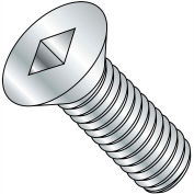 10-24X3  Square Drive Flat Head Machine Screw Fully Threaded Zinc, Pkg of 700
