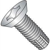 10-32X3/8  Phil Flat Undercut Thread Cutting Screw Type F Full Thread 18 8 Stainless Steel,4000 pcs