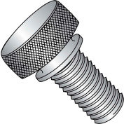 "#10-32 x 3/8"" Knurled Thumb Screw w/ Washer Face - FT - 18-8 Stainless Steel - Pkg of 100"