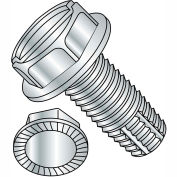 10-32X1/2  Slotted Indented Hex Washer Thread Cutting Screw Type F Serrated Full Thrd, Pkg of 10000