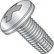 10-32X1 1/4  Phillips Pan Thread Cutting Screw Type F Fully Threaded Zinc Bake, Pkg of 4000