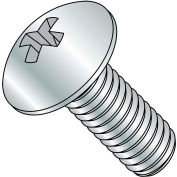 10-32X1 1/2  Phillips Truss Full Contour Machine Screw Fully Threaded Zinc, Pkg of 2000