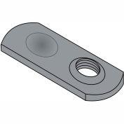 10-32  Weld Nut Thin Target Area Plain Steel, Pkg of 1000