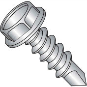 #12 x 1/2 Unslotted Indent Hex Washer Self Drill Screw FT 18-8 Stainless Steel - Pkg of 5000
