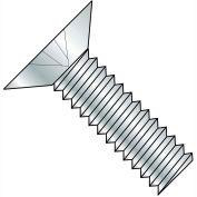 12-24X1/2  Phillips Flat 100 Degree Machine Screw Fully Threaded Zinc, Pkg of 10000