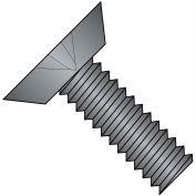 12-24X3/4  Phillips Flat Undercut Machine Screw Fully Threaded Black Zinc, Pkg of 5000