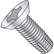 12-24X1  Phillips Flat Undercut Thread Cutting Screw Type F Fully Threaded Zinc, Pkg of 4000