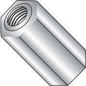 8-32X3/16  One Quarter Hex Standoff Aluminum Female, Pkg of 1000