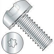 1/4-20X3/8  Six Lobe Pan Head Internal Tooth Sems Machine Screw Full Thrd Zinc Bake, Pkg of 1000