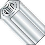6-32X1/2  One Quarter Hex Female Standoff Brass Nickel, Pkg of 500