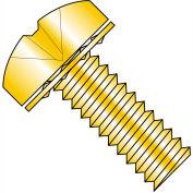 1/4-20X1/2  Phillips Pan Internal Sems Machine Screw Fully Threaded Zinc Yellow, Pkg of 1000