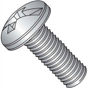 1/4-20X1/2  Combination Pan Head Machine Screw Fully Threaded 18 8 Stainless Steel, Pkg of 1000