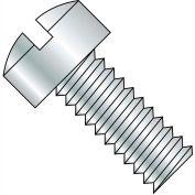 1/4-20X1/2  Slotted Fillister Head Machine Screw Fully Threaded Zinc, Pkg of 3000
