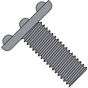 1/4-20X1/2  Weld Screw With Nibs Top Of Head F/T Plain, Pkg of 2000