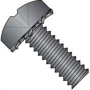 1/4-20X3/4  Phillips Pan External Sems Machine Screw Fully Threaded Black Zinc Bake, Pkg of 1000
