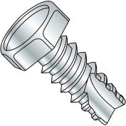 #14 x 1 Unslotted Indented Hex Thread Cutting Screw Type 25 Fully Threaded Zinc Bake - Pkg of 2000