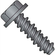 #14 x 1 Unslotted Indented Hex Washer High Low Screw Fully Threaded Black Oxide - Pkg of 2500