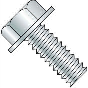 1/4-20X1  Unslotted Indented Hex Washer Head Machine Screw Fully Threaded Zinc, Pkg of 2000