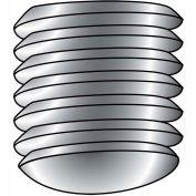 1/4-20X1  Coarse Thread Socket Set Screw Oval Point Plain Imported, Pkg of 25