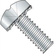 1/4-20X1 1/4  Phillips Pan External Sems Machine Screw Fully Threaded Zinc Bake, Pkg of 1000