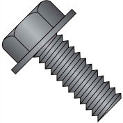 1/4-20X1 1/4  Unslotted Indented Hex Washer Head Machine Screw Full Thrd Black Oxide, Pkg of 1500