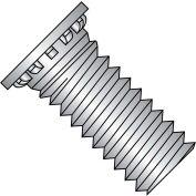 1/4-20X1 1/4  Self Clinching Stud 12 Rib Full Thread 300 Series Stainless Steel, Pkg of 1000