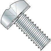 1/4-20X1 1/4  Phillips Pan Split Lock Washer Sems Fully Threaded Zinc, Pkg of 1000