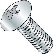 1/4-20X1 1/2  Phillips Oval Head Machine Screw Fully Threaded Zinc, Pkg of 2000
