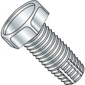 1/4-20X2  Unslotted Indented Hex Thread Cutting Screw Type F Fully Threaded Zinc, Pkg of 1000