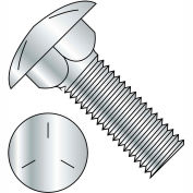 1/4-20 x 4 Carriage Bolt - Grade 5 - Fully Threaded - Zinc - Pkg of 450