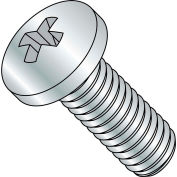 1/4-20X6  Phillips Pan Machine Screw Fully Threaded Zinc, Pkg of 200