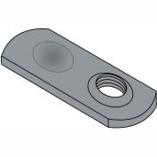 1/4-20  Weld Nut Thin Target Area Plain Steel, Pkg of 1000