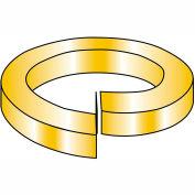1/4  High Alloy Regular Split Lock Washer AISI 4037 Zinc Yellow, Pkg of 2000