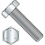 Made In USA 1/4-28X2 1/2  Hex Tap Bolt Grade 5 Fully Threaded Zinc, Pkg of 300
