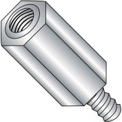 8-32 x 5/8 Five Sixteenths Hex Male Female Standoff - Stainless Steel - Pkg of 100