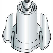 5/16-18X5/8  4 Prong Tee Nut Zinc, Pkg of 1000