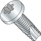 5/16-18X1 1/4  Six Lobe Pan Thread Cutting Screw Type 23 Fully Threaded Zinc Bake, Pkg of 1000