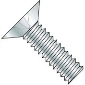 Made In USA 5/16-18X1 1/4  Phillips Flat 100 Degree Machine Screw Fully Threaded Zinc, Pkg of 1250
