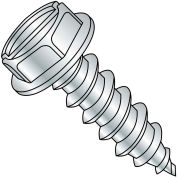 5/16X2  Slotted Indented Hex Washer Self Tapping Screw Type A B Full Thrd Zinc Bake, Pkg of 750