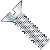 3/8-16X3/4  Slotted Flat Machine Screw Fully Threaded Zinc, Pkg of 1250