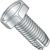 3/8-16X1  Unslotted Indented Hex Head Thread Cutting Screw Type 1 Ful Thread Zinc Bake, Pkg of 1250