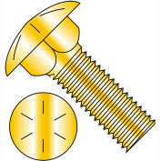 3/8-16 X 1 Carriage Bolt - Grade 8 - Fully Threaded - Square Neck - Zinc Yellow - Pkg of 825
