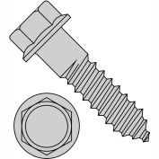 3/8X3  Indented Hex Flange Lag Screw Grade 2 Hot Dip Galvanized, Pkg of 250