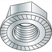 3/8-16  Serrated Flange Hex Lock Nuts Case Hardened HR15N 78/90 Zinc Bake, Pkg of 1000