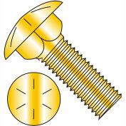 1/2-13X1 1/2  Carriage Bolt Grade 8 Fully Threaded Zinc Yellow, Pkg of 350