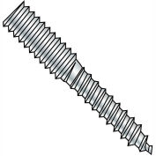1/2-13x5 Hanger Bolt Full Thread Zinc, Pkg of 100